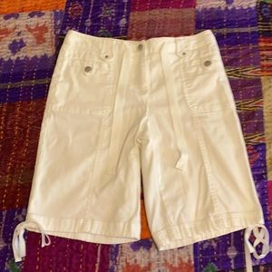 Charter Club Allison Fit white shorts NWOT